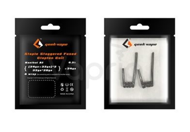 Geek Vape Prebuilt Staple Staggered Fused Clapton Coils Review